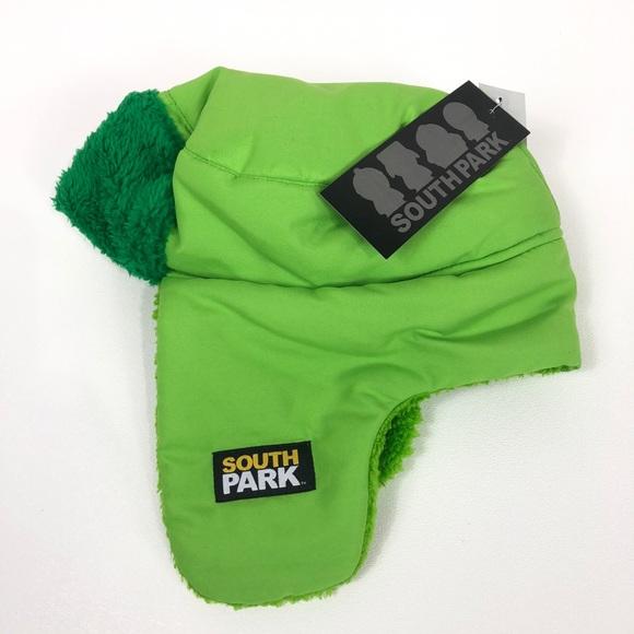 e0ec130f89ecd South Park Kyle green trapper hat